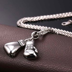 Other - New Stainless Steel Boxing Glove Necklace